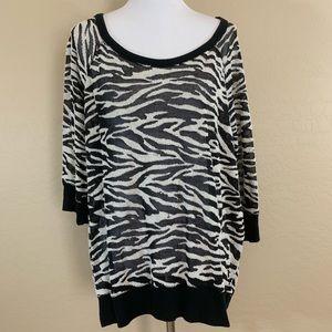 Torrid Sheer Zebra Top